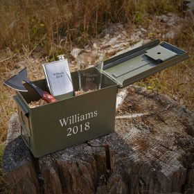 Hatchet and 50-Caliber Ammo Can Personalized Gift for Him