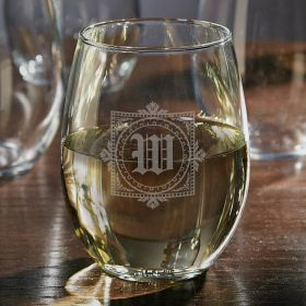 Winchester Engraved Stemless Wine Glass