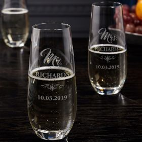 Harmony Personalized Champagne Flutes
