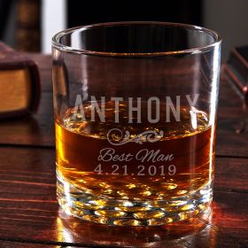 Classic Groomsman Custom Whiskey Glass – Groomsman Gift Idea