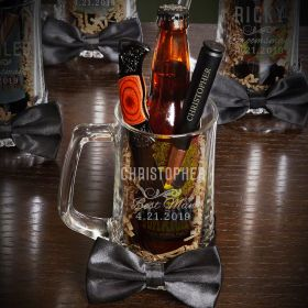 Classic Groomsman Beer Mug Custom Gift Set