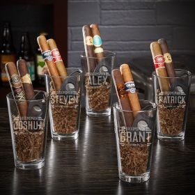 Bradshaw Personalized Cigar and Beer Groomsmen Gifts – Set of 5