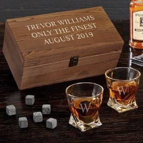 Personalized Twist Glasses Whiskey Gift Box