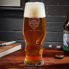 Police Badge Personalized IPA Glass