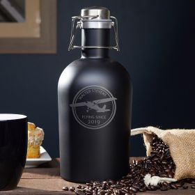 Aviator Custom Stainless Steel Coffee Carafe - Gift for Pilots