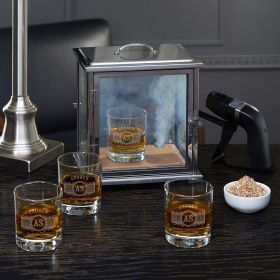 Advanced Smoke Box Kit with Marquee Custom Whiskey Glasses