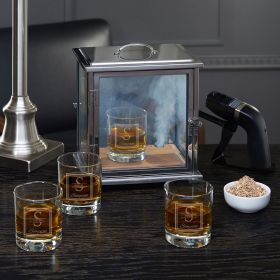 Oakhill Smoke Box Kit with Custom Whiskey Glasses