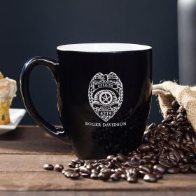 Police Badge Personalized Coffee Mug – Gift for Police Officers