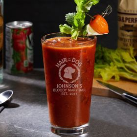 Hair of the Dog Bloody Mary Personalized Pint Glass