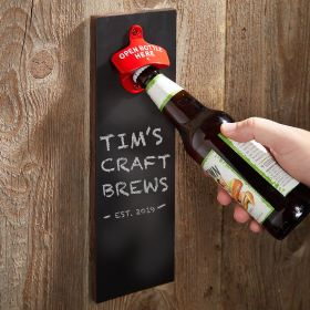 Chalkboard Unique Wall Mounted Bottle Opener