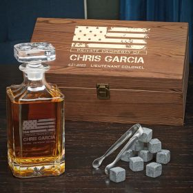 American Heroes Personalized Carson Decanter Set – Military Gift