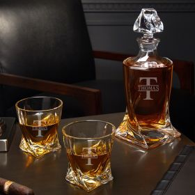 Oakmont Personalized Twist Decanter Set