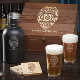 Police Badge Boxed Beer Set – Gift for Police Officers