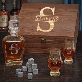 Oakmont Custom Glencairn Whiskey Gift Set