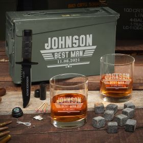 Maverick Personalized .30 Cal Ammo Can Gift for Groomsmen