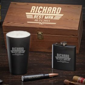 Steel Class Maverick Engraved Box Set – Groomsmen Gift