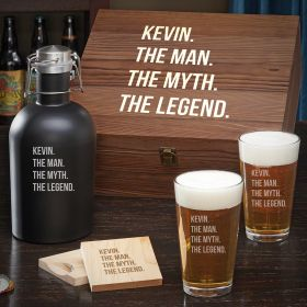 Man Myth Legend Custom Beer Gift Set