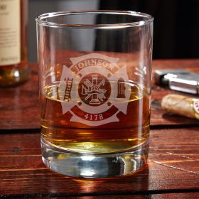 Fire and Rescue Eastham Personalized Whiskey Glass - Gift for Firefighters