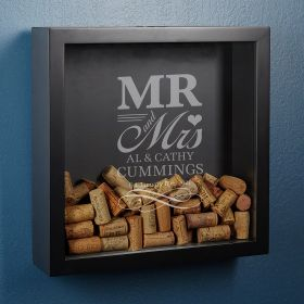 Wedding Day Custom Shadow Box Gift for Couples