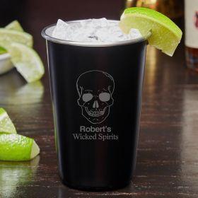 Phantom Skull Custom Blackout Unique Cocktail Glass
