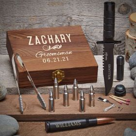 Classic Groomsman Custom Bullet Themed Gift for Groomsmen