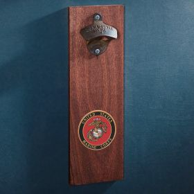 Marine Crest Wall-Mounted Bottle Opener Gift for Military
