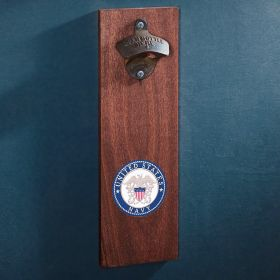 Navy Crest Wall-Mounted Bottle Opener Gift for Military