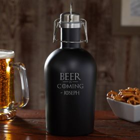 Beer is Coming Personalized Beer Growler