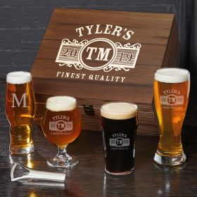 Marquee Custom Beer Glasses Box Set – Gift for Beer Lovers