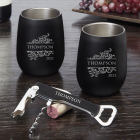 Livingston Personalized Wine Tumbler Gift Set