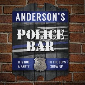 Not a Cop Party Personalized Sign - Gift for Cops