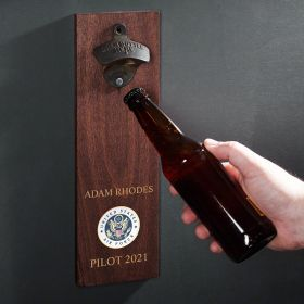 Air Force Crest Personalized Wall Mounted Bottle Opener Military Gift