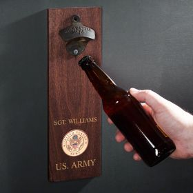 Army Crest Personalized Wall Mounted Bottle Opener Military Gift