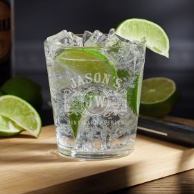 Marquee Engraved Vodka Tonic Glass