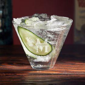 Oakmont Custom Stemless Martini Glass