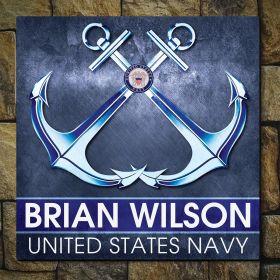 Navy Proud Custom Sign Navy Gift