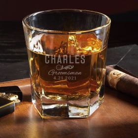 Classic Engraved Groomsmen Single Colchester Scotch Glass