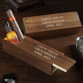 Personalized Cigar Box - Groomsmen Gift