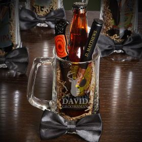 Woodlands Personalized Beer Mug Groomsman Gift Set