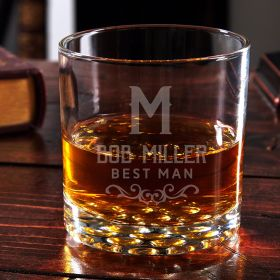Warwick Engraved Buckman Bourbon Glass
