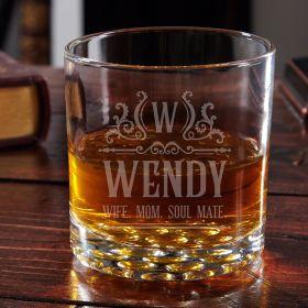 Canterbury Buckman Personalized Whiskey Glass