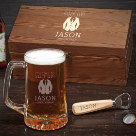 Suit Up Personalized Beer Groomsmen Gift