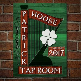 Irish Harp Personalized Irish Pub Sign