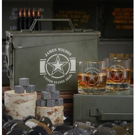 Army Strong Custom 30 Cal Ammo Can Set of Army Gifts