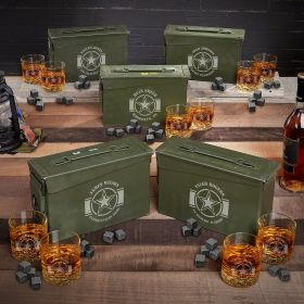 Army Strong Custom Ammo Can Sets for Army Graduation Gifts - Set of 5