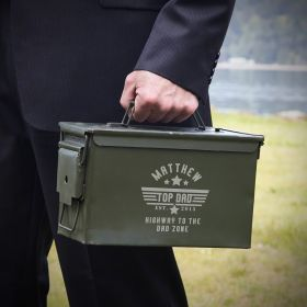 Top Dad 50 Cal Ammo Can Personalized Gift for Dad