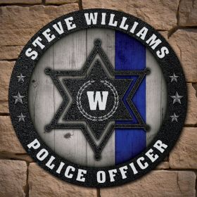 Sheriff Thin Blue Line Personalized Sign Sheriff Gift