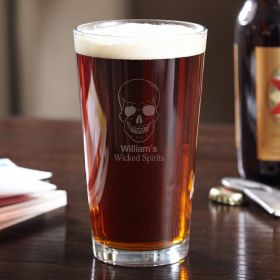 Phantom Skull Custom Pint Glass