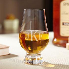 Classic Monogram Engraved Glencairn Whiskey Glass