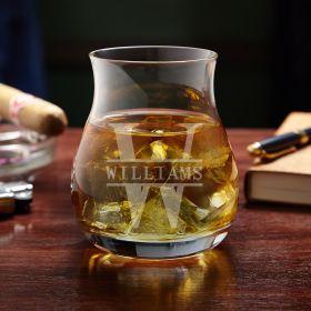 Oakmont Engraved Canadian Glencairn Whisky Glass
